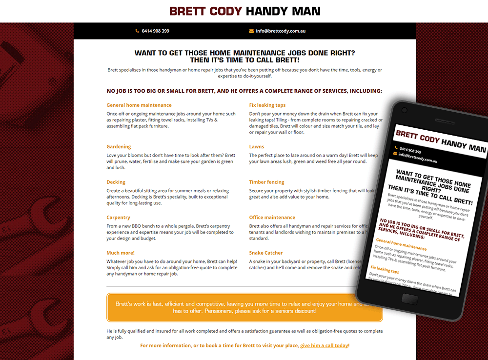 Brett Cody Handy Man